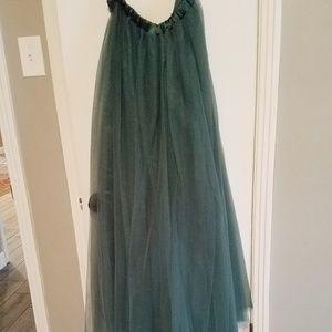 Azazie Dark Green  Odette Skirt